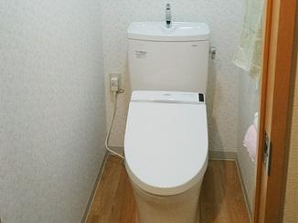 トイレリフォーム 内装も同時にリフォームし、綺麗で安心して使えるトイレに